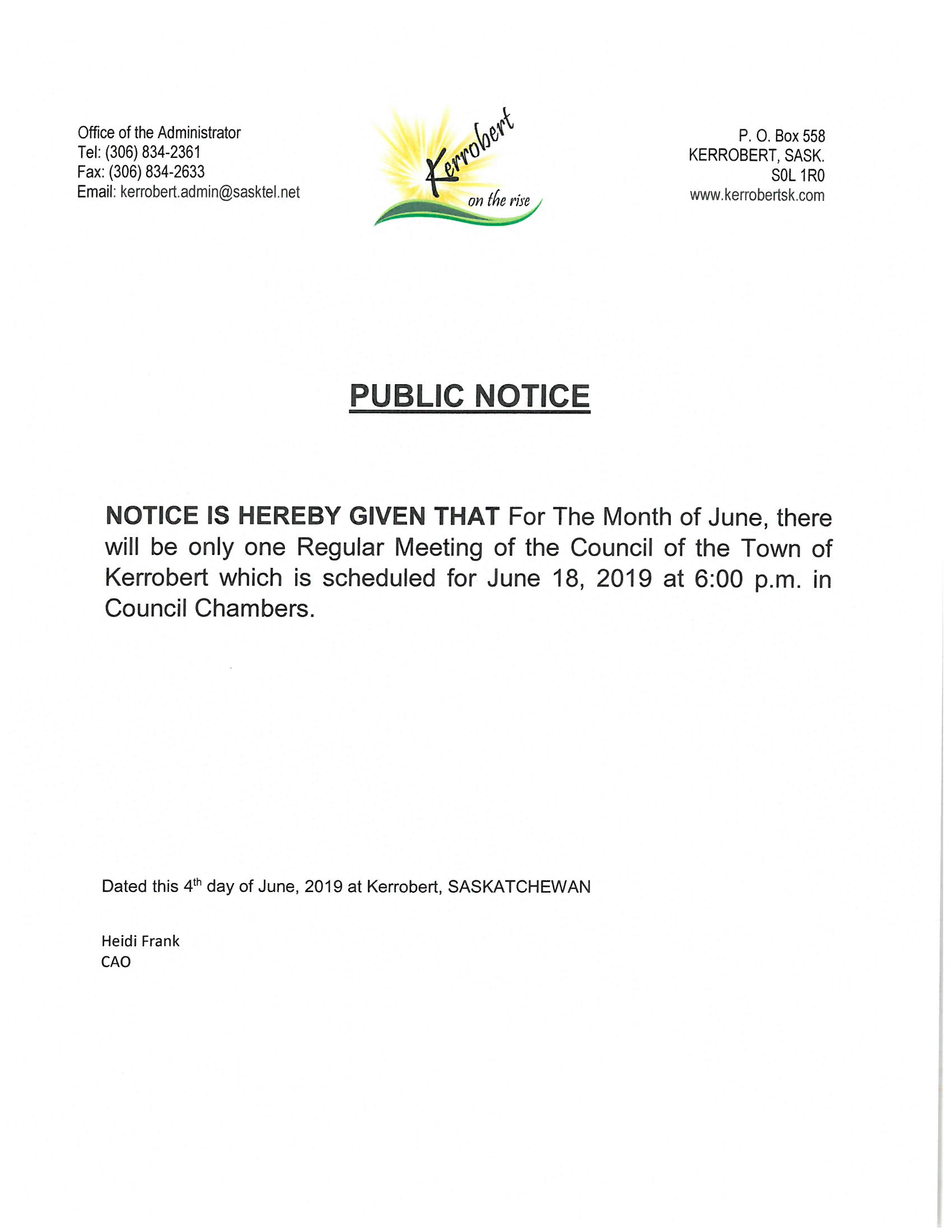 June 2019 Council Meeting